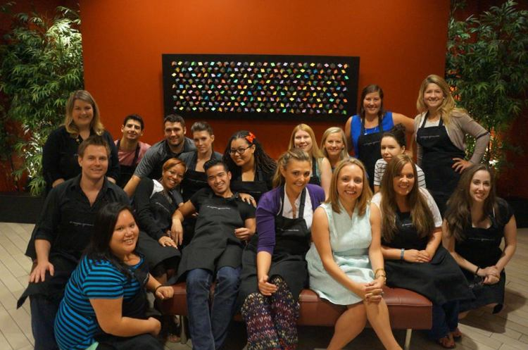 The NKBA 30 under 30 group in the GE Monogram Experience Center