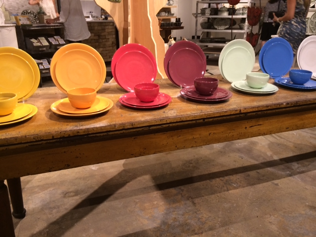 Color! Lots of options for dinnerware.  Colors that can be traditional, transitional or contemporary.