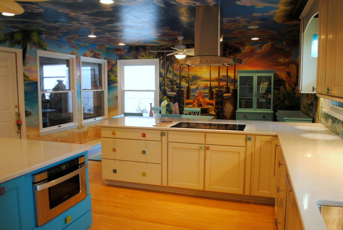 Hawaiian themed kitchen designed by Jessica Altman