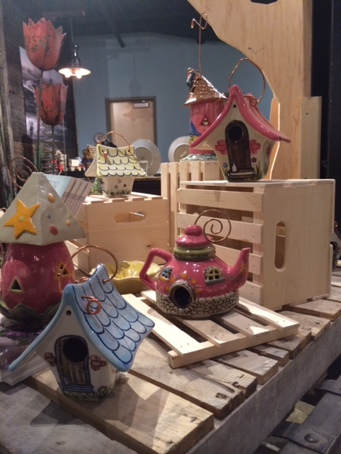 Whimsy!  What cute little bird wouldn't want to move into one of these charming birdhouses?