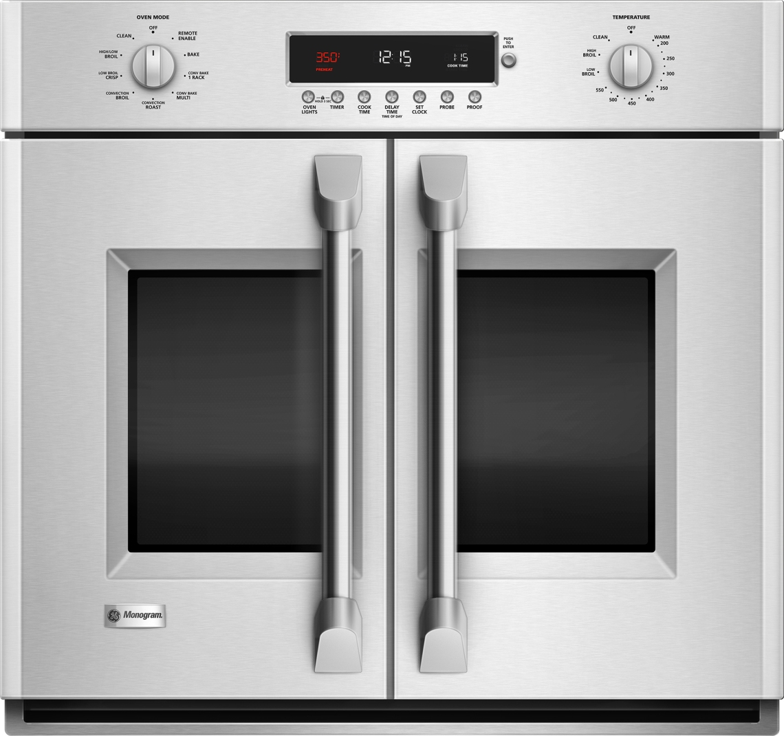 New GE Monogram French door wall oven