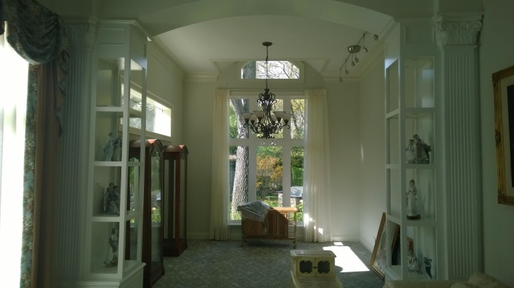 I also included a photo of the living/dining room space which is Phase One remodeling  just to show the traditional feel of the Steffen home