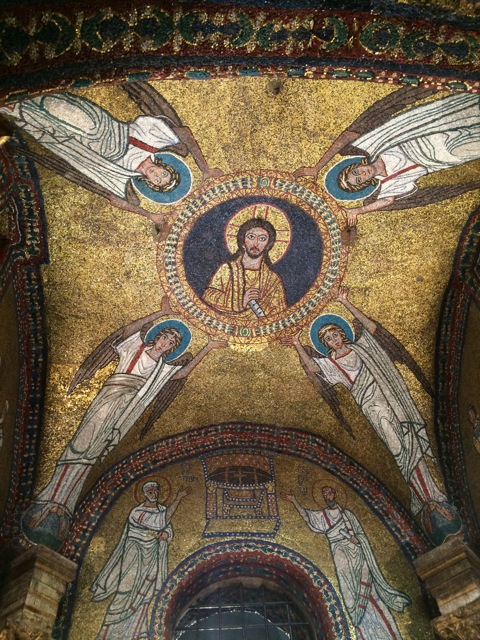 Expansive mosaics on the ceiling of the church and the San Zeno Chapel Basilica di Santa Prassede in Rome