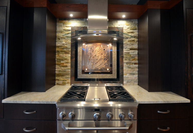 Fused Backsplash over GE Monogram Range