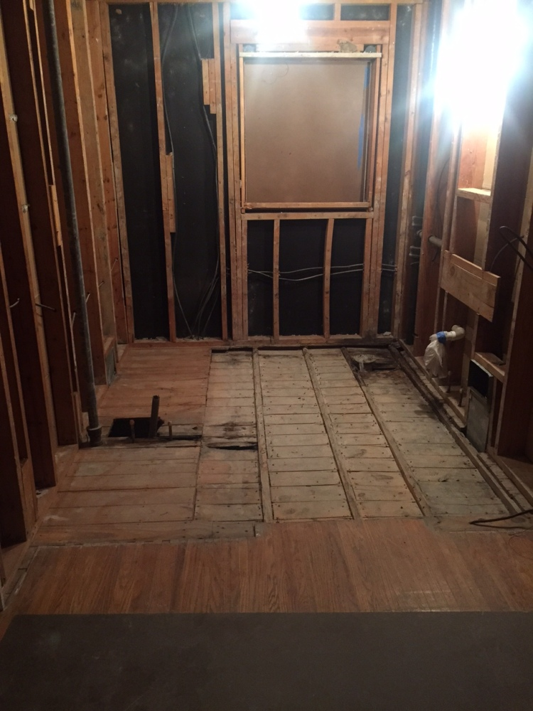 In process bathroom renovation
