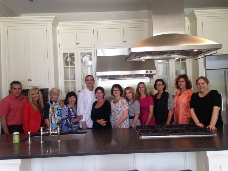 Our inaugural group of Chicago area designers who attended the first session, along with Chef Jon, Alex Skobel, Jo Ann Ginger, and Sheri Gold from the Monogram Design Center.