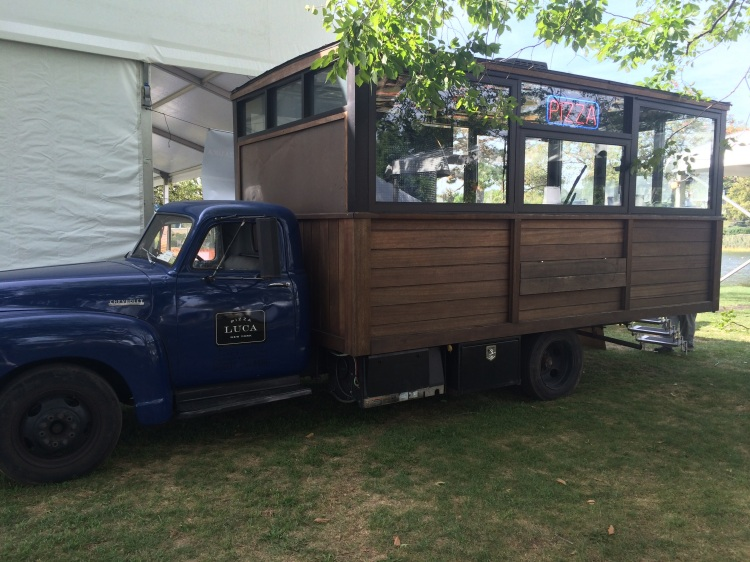 We were in good pizza company at the Festival with Pizza LUCA and their beautiful wood-paneled kitchen on the back of a 1952 Chevy.