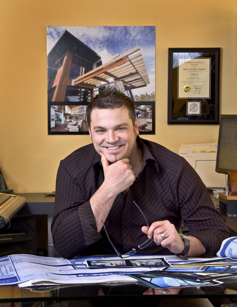 Brian Johnson, grand prize winner of the Monogram Dream Kitchen Design Contest