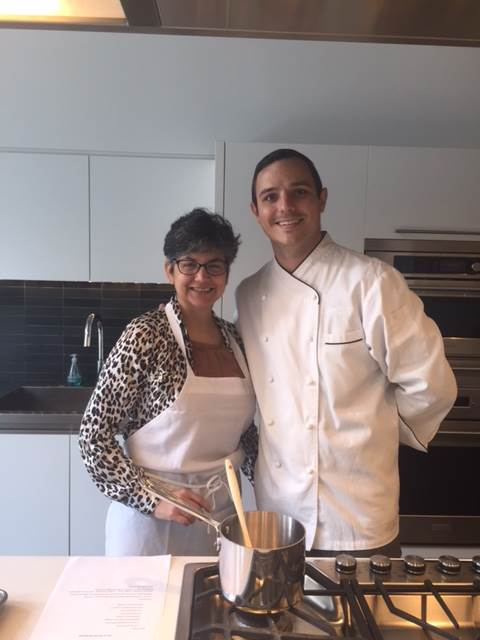 Designer Debra Gelety with Chef Jon at the Chicago Monogram Design Center