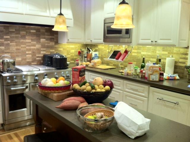 Day before Thanksgiving, 2011 - Prepping for dinner
