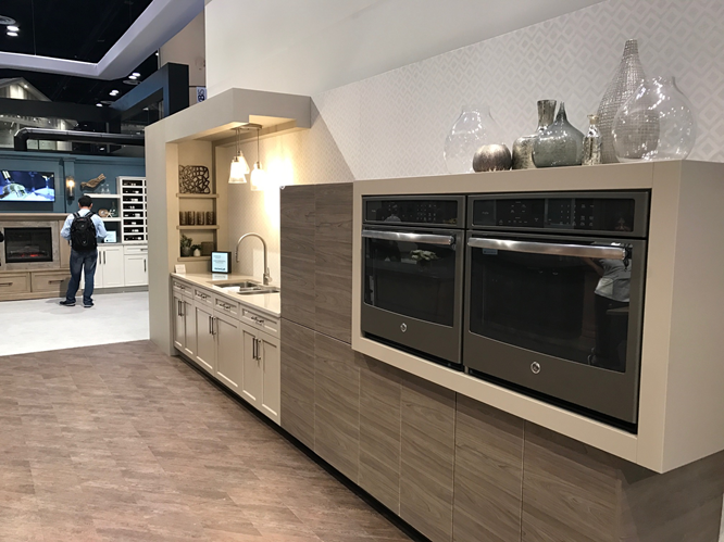 GE Cafe Black Slate appliances at KBIS