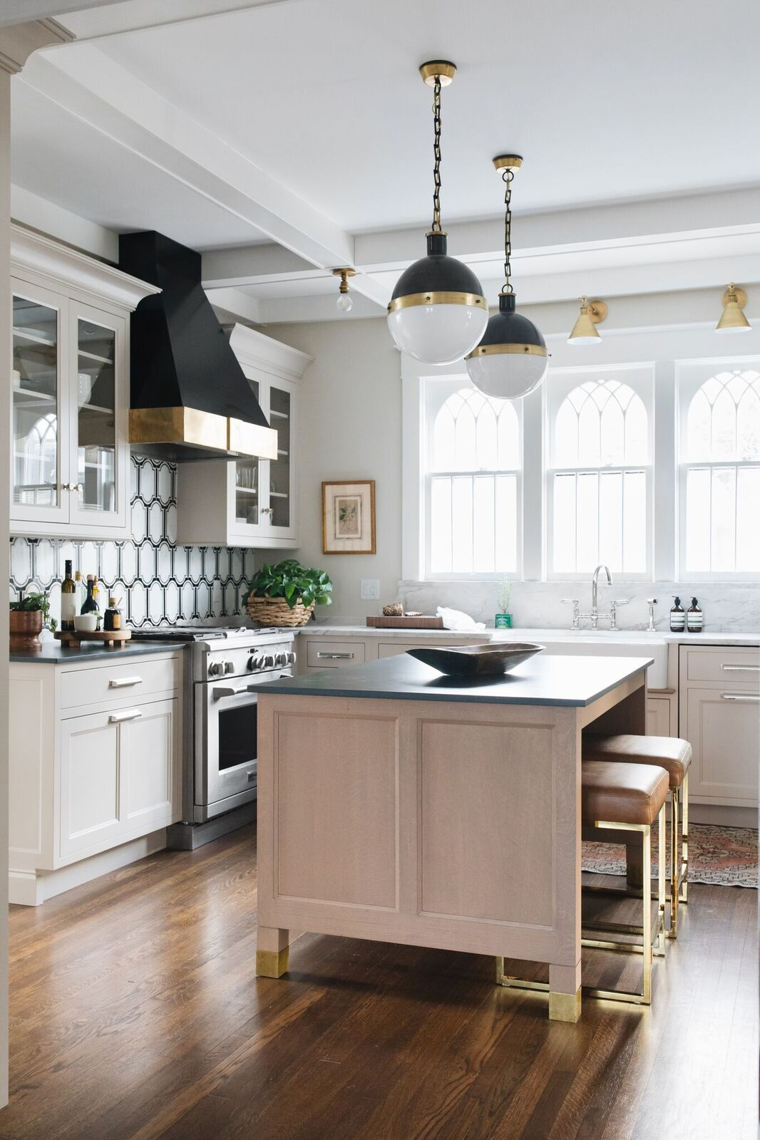 Kitchen In 1902 Victorian Home Designed By Jean Stoffer Design.  Photography: John Stoffer